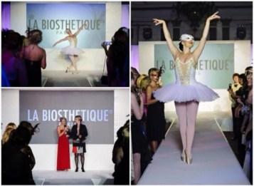 Ballerina performing at La Biosthetique Paris Hair show awards