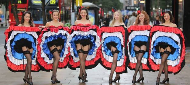 A photo of Can Can Dancers on Oxford Street