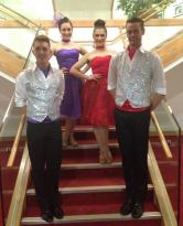 Dancers ready to perform a latin dance show