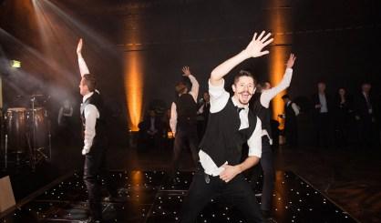 Dancing Flash Mob Waiters