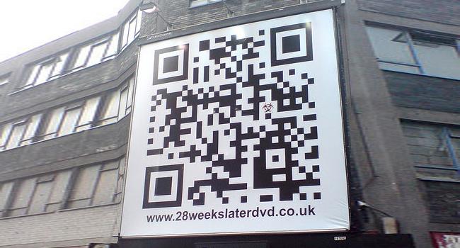 QR Codes used on Billboard Advertising