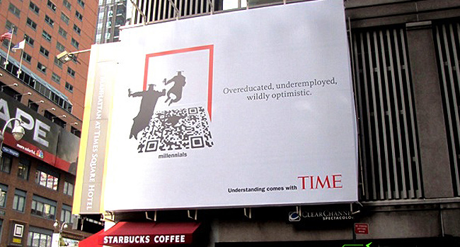 QR Codes used on TIME Billboard Advertising
