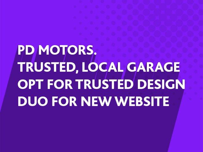 Website design for PD Motors, Billingshurst