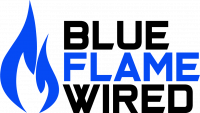 Blue Flame Wired Logo