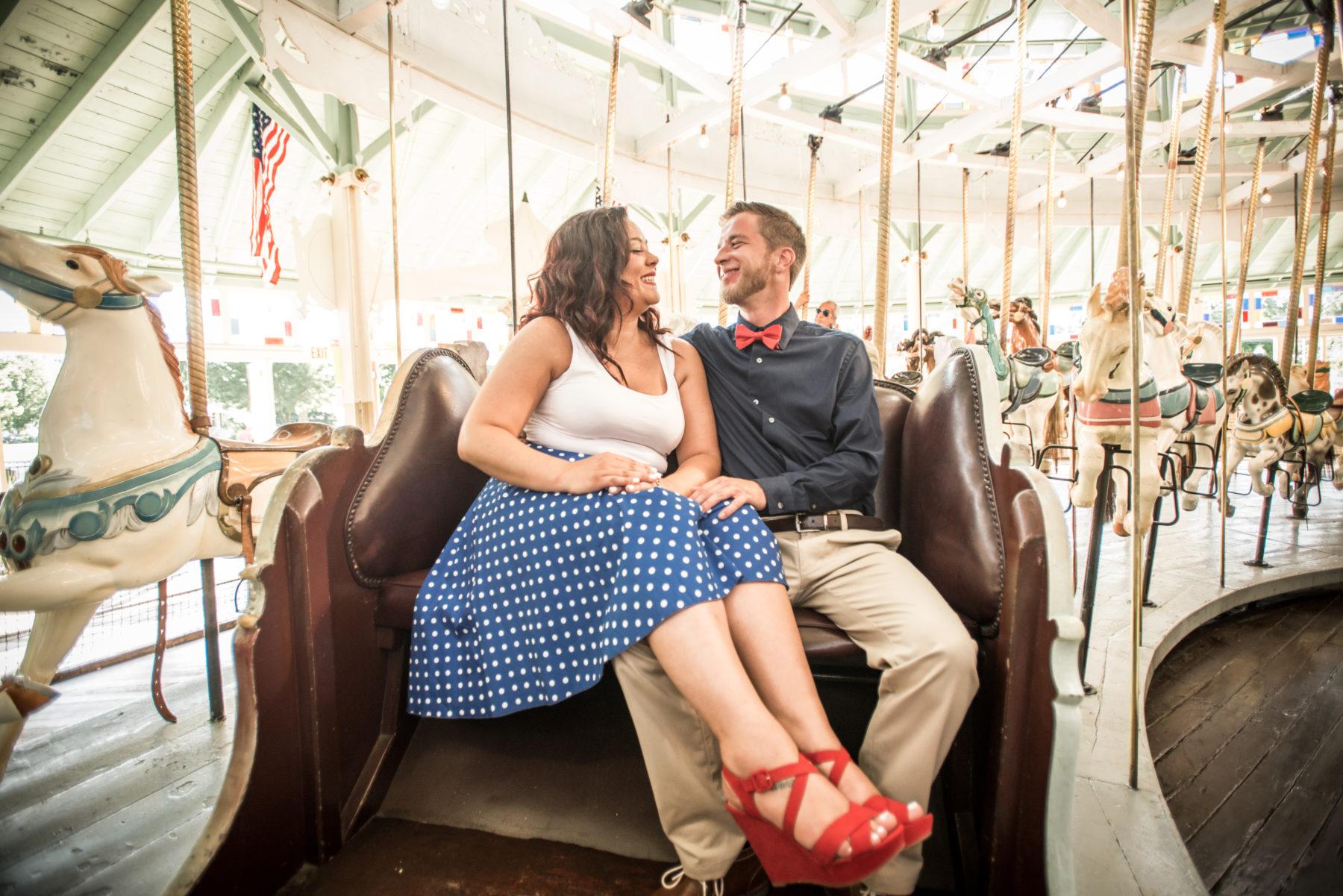 Michaela and PJ   Louff Carousel RIverside Engagement Photos   Blueflash Photography