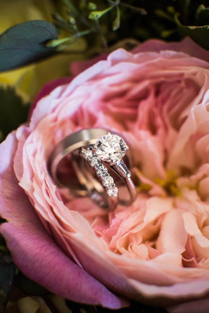 Tia and Michael | Engagement and wedding band photo inspiration