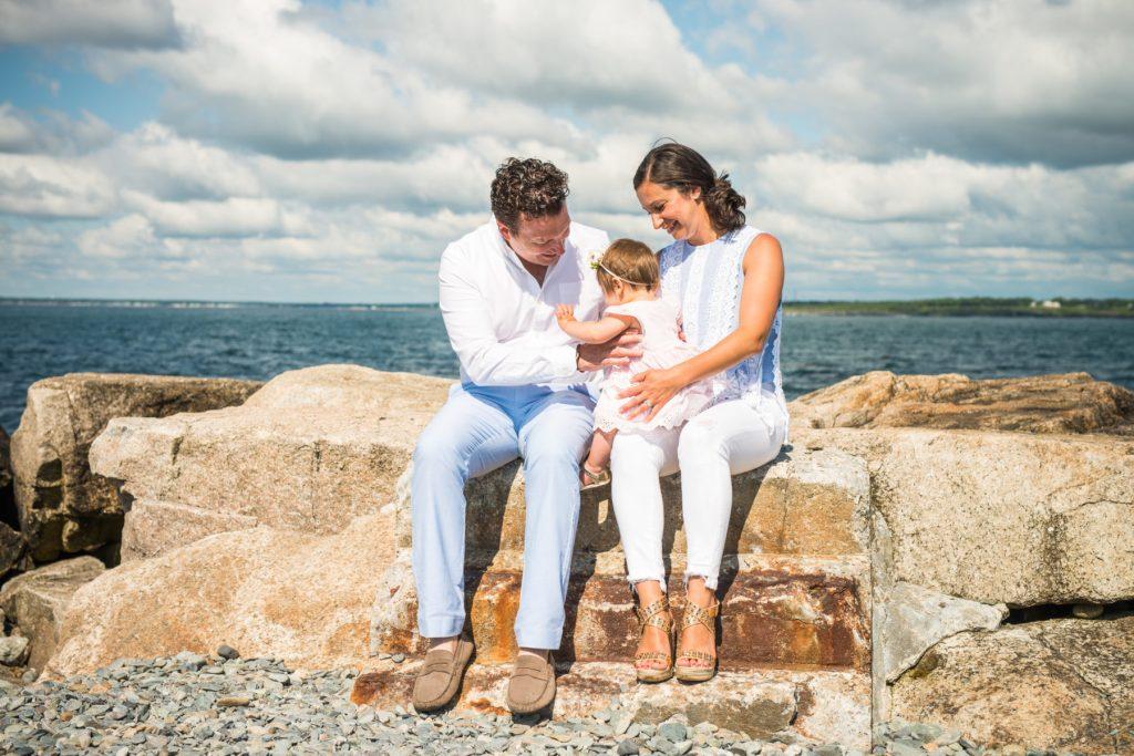 Kristen, Tony, and Charlotte   Newport Family Session