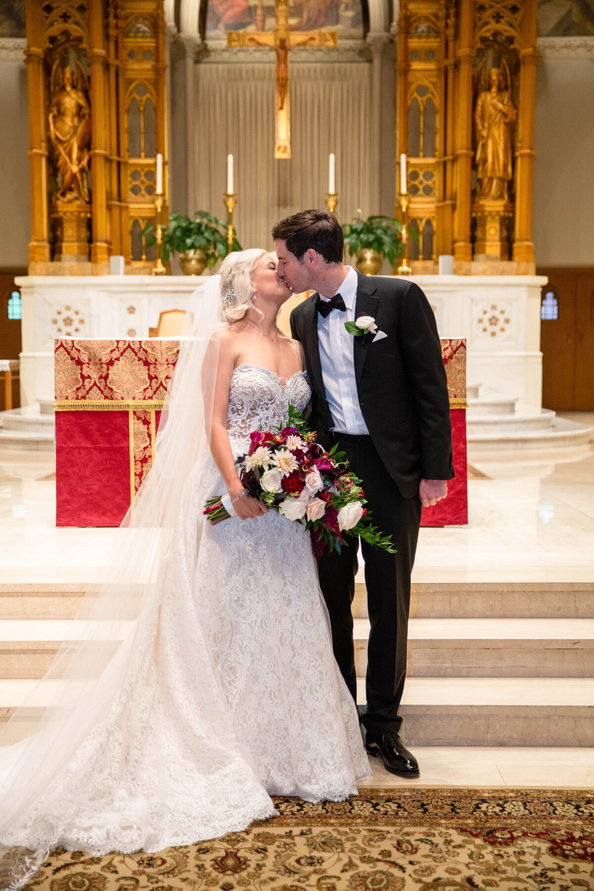 Cathedral of Saints Peter and Paul Providence Wedding Elena and Hunter Blueflash Photography 12