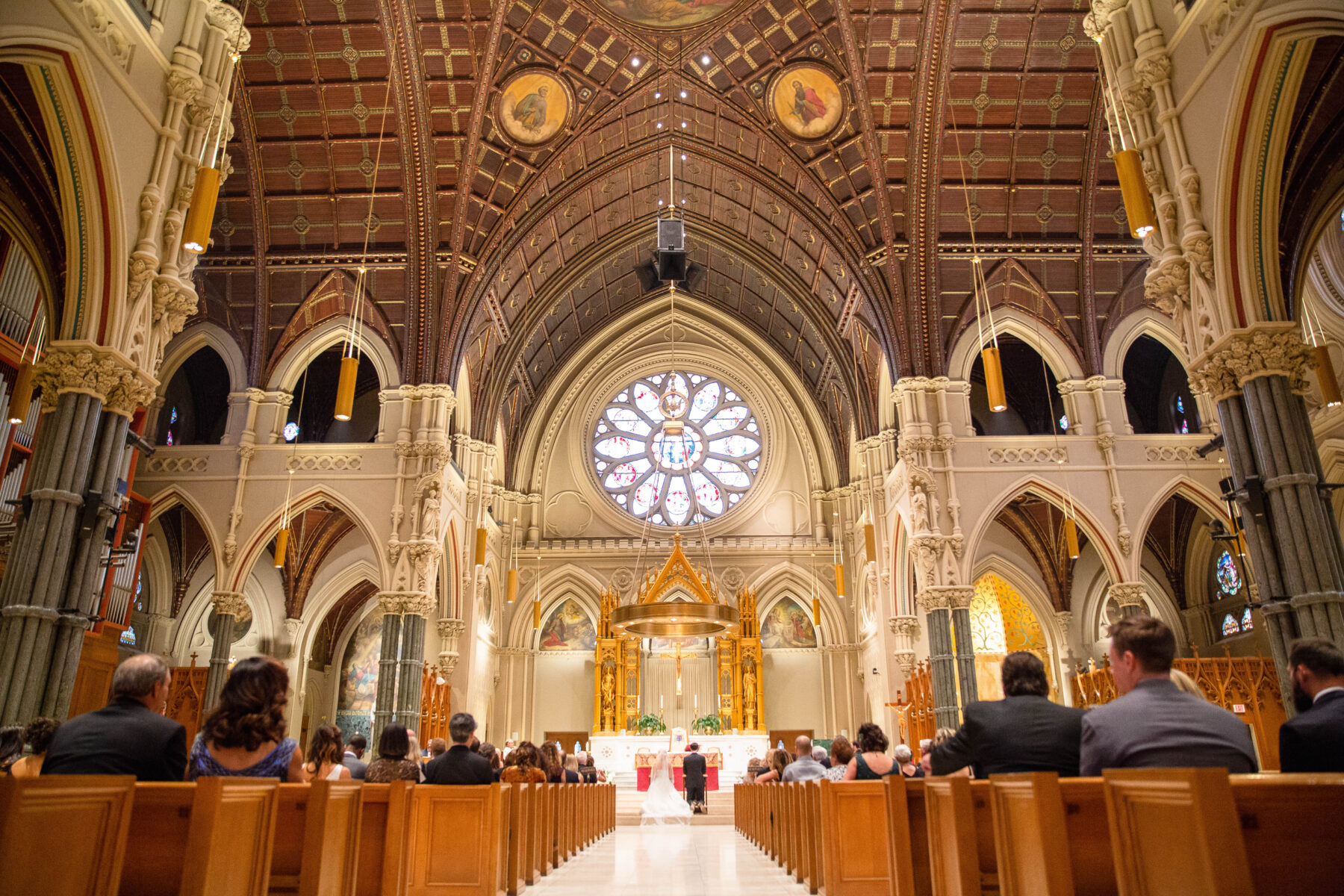 Cathedral of Saints Peter and Paul Providence Wedding Elena and Hunter Blueflash Photography 8