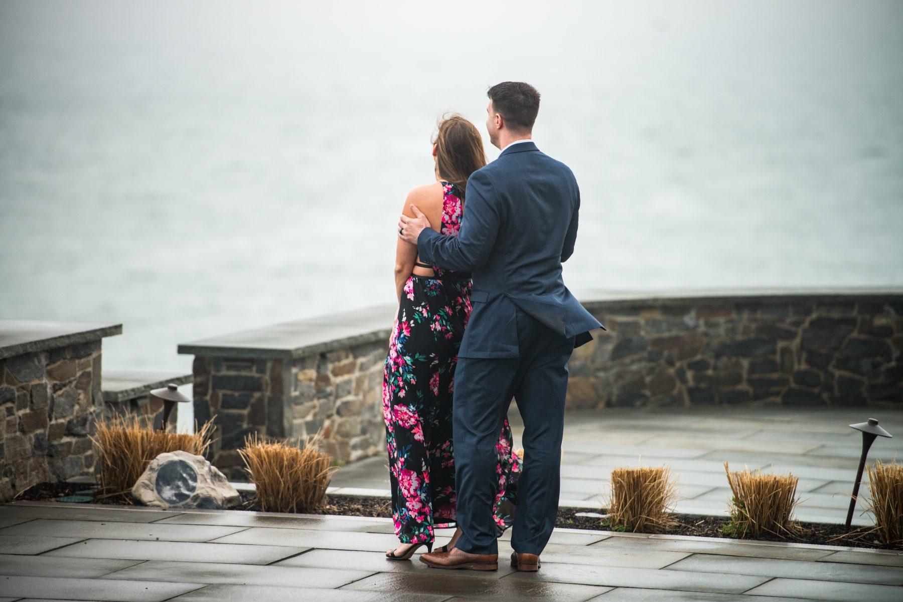 Zoe and Stephen Castle Hill Inn Newport Proposal Blueflash Photography 1