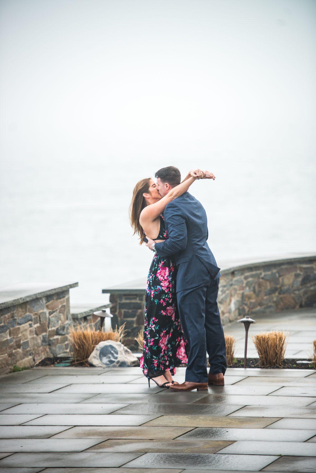 Zoe and Stephen Castle Hill Inn Newport Proposal Blueflash Photography 7
