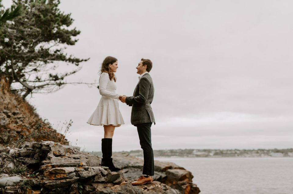 Kaitlyn and Mack | Newport Engagement