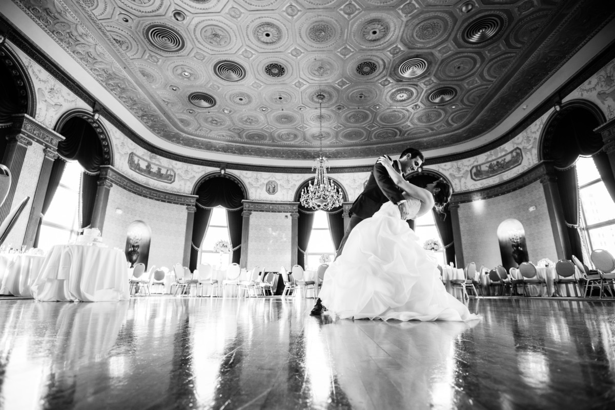 Lauren and Jimmy   Wedding at the Providence Biltmore   Dancing in the Grand Ballroom