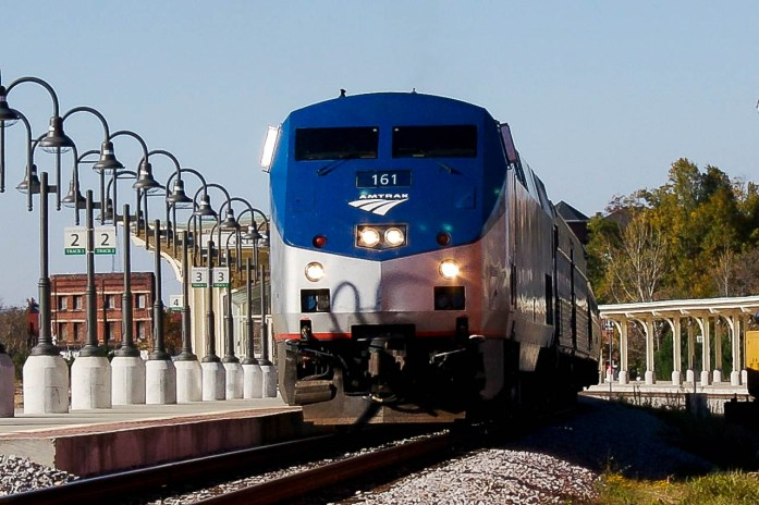 Amtrak train railroad in Greensboro