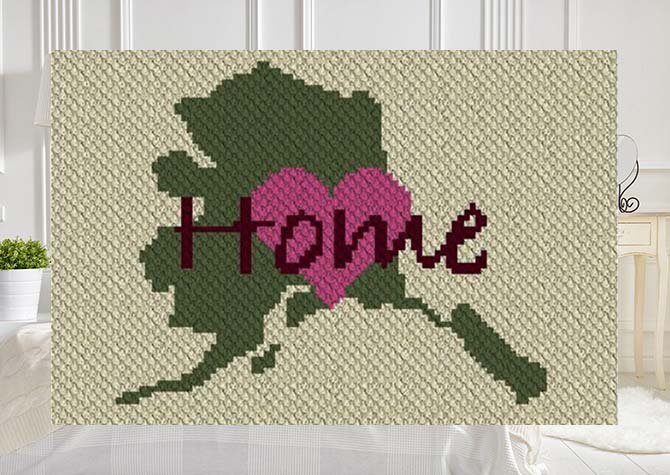 Alaska Home C2C Crochet Pattern