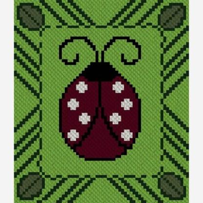 Lulu Ladybug C2C Corner to Corner Crochet Pattern