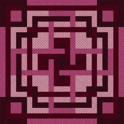 Maze of Mimi C2C Corner to Corner Crochet Pattern
