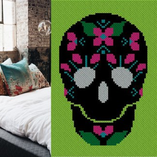 Mujer Amor C2C Afghan Crochet Pattern Corner to Corner Graphghan Cross Stitch Graph Blue Frog Creek