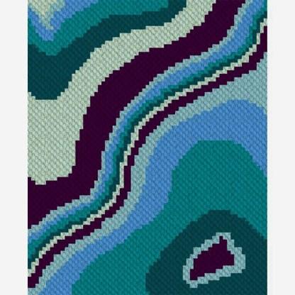 Geode C2C Corner to Corner Crochet Pattern