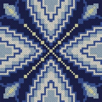 Reflection Corner to Corner C2C Crochet Pattern
