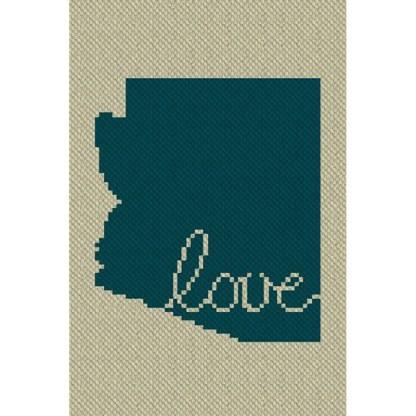 Arizona Love C2C Afghan Crochet Pattern Corner to Corner Graphghan Cross Stitch Blue Frog Creek