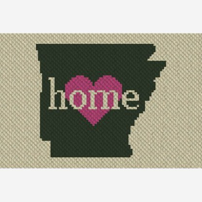 Arkansas Home C2C Corner to Corner Crochet Pattern