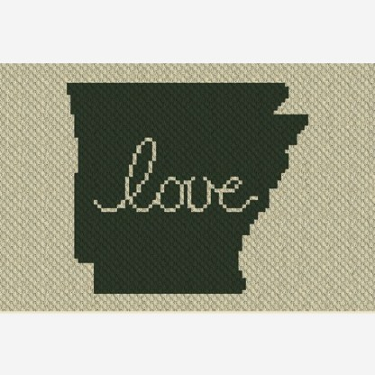 Arkansas Love C2C Corner to Corner Crochet Pattern