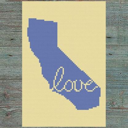 California Love Cross Stitch Chart