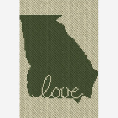Georgia Love C2C Corner to Corner Crochet Pattern
