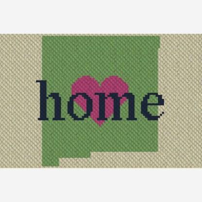 New Mexico Home C2C Corner to Corner Crochet Pattern