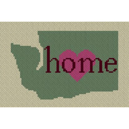 Washington Home C2C Afghan Crochet Pattern Corner to Corner Graphghan Cross Stitch Blue Frog Creek