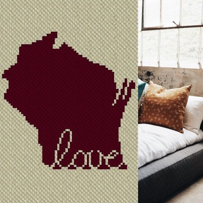 Wisconsin Love C2C Corner to Corner Crochet Pattern