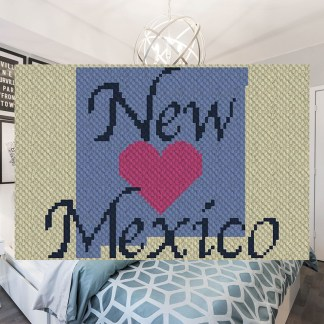 Heart New Mexico C2C Corner to Corner Crochet Pattern