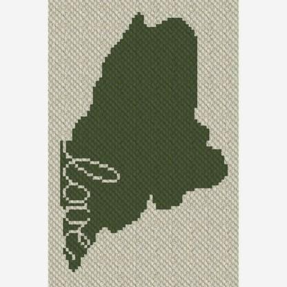 Maine Love C2C Corner to Corner Crochet Pattern