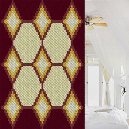Glint of Sunshine C2C Corner to Corner Crochet Pattern