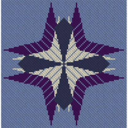 Flight of Fancy C2C Afghan Crochet Pattern Corner to Corner or Graphghan