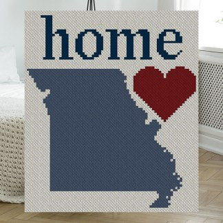 Missouri Home C2C Afghan Crochet Pattern Corner to Corner Graphghan Cross Stitch Pattern