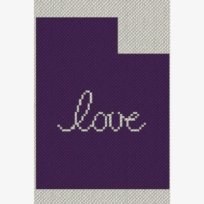 Utah Love C2C Afghan Crochet Pattern Corner to Corner Graphghan Cross Stitch Blue Frog Creek
