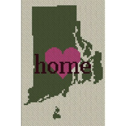 Rhode Island Home C2C Afghan Crochet Pattern Corner to Corner Graphghan Cross Stitch Blue Frog Creek