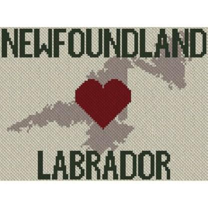 heart newfoundland labrador c2c afghan crochet pattern corner to corner graphghan ccross stitch blue frog creek