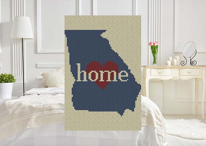 Georgia Home C2C Crochet Pattern