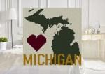 Michigan Home C2C Afghan Crochet Pattern