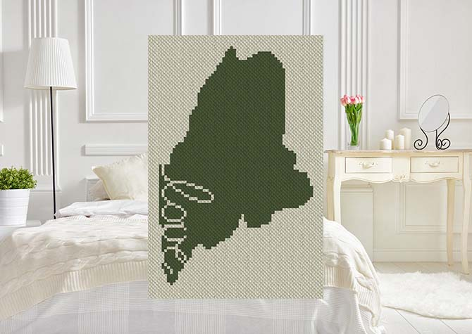 Maine Love C2C Crochet Pattern