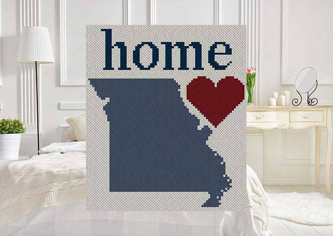 Missouri Home C2C Afghan Crochet Pattern
