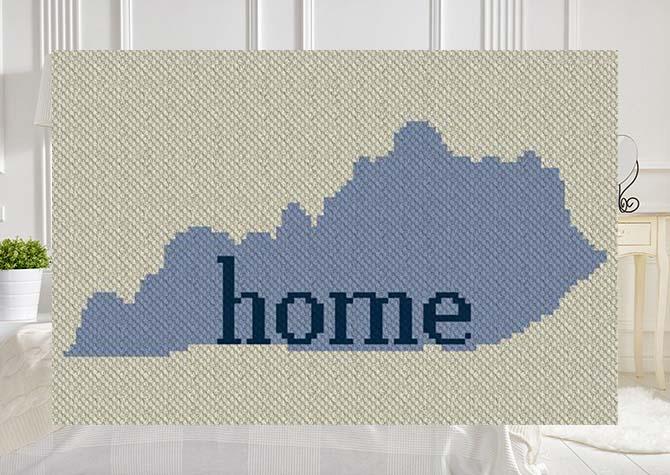 My Home Kentucky C2C Afghan Crochet Pattern