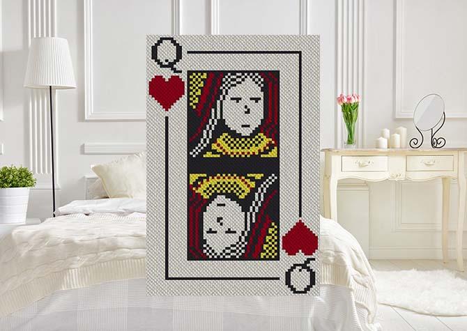 Queen of Hearts C2C Crochet Pattern