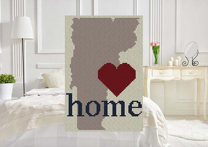 Vermont Home C2C Afghan Crochet Pattern