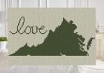 Tennessee Love C2C Crochet Pattern