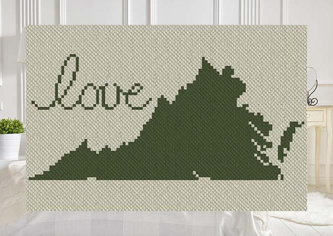 Virginia Love C2C Afghan Crochet Pattern