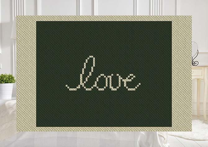 Wyoming Love C2C Afghan Crochet Pattern
